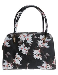 Poisoned Blossom & Butterfly Bowling Bag Black