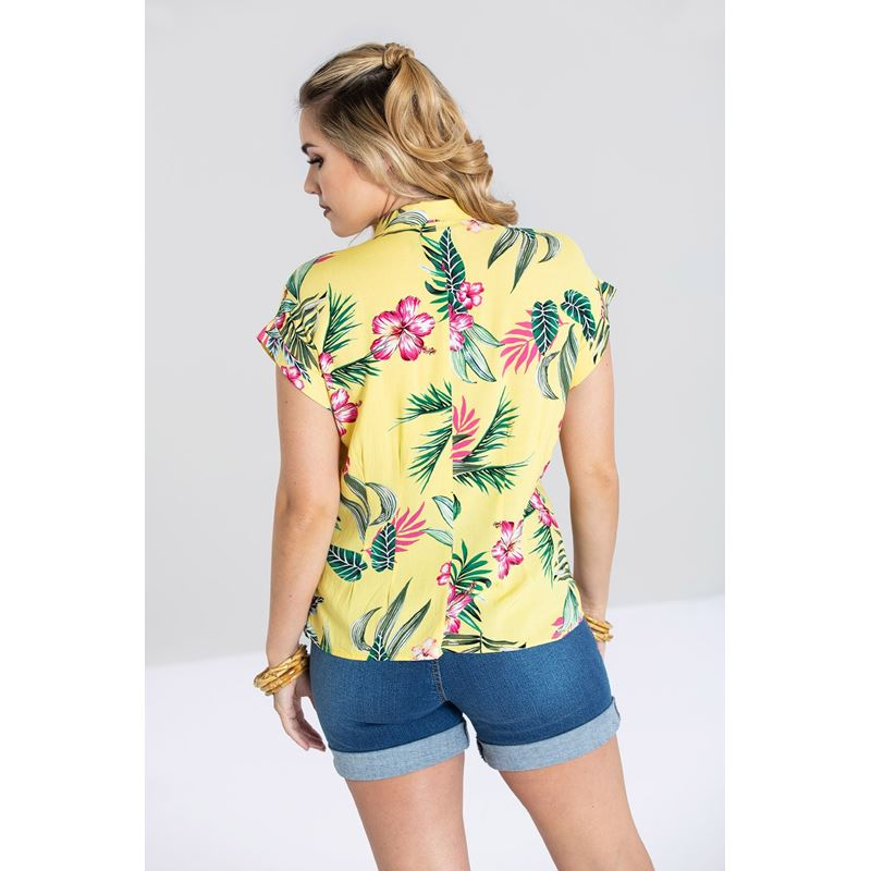 Hell Bunny Kalani Tropical Hawaiian Shirt Top