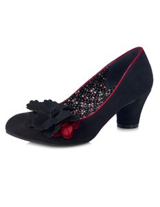 Ruby Shoo Samira Flower Court Shoes Mid Heels