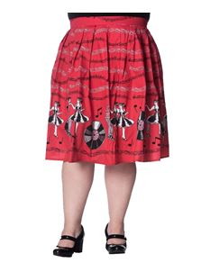 Banned Apparel-Empower Rock & Roll Skirt Plus Size