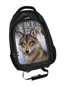 Wolf Pack 3D Lenticular Backpack Rucksack