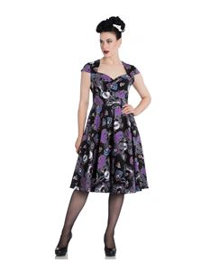 Hell Bunny Graciela Black Day Of The Dead 50s Dress