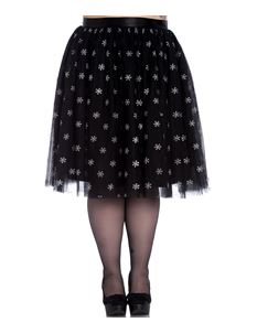 Hell Bunny Snowstar Skirt - Plus Size