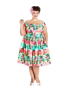 Hell Bunny Peacock 50s Rockabilly Inspired Dress