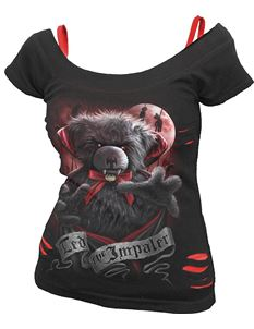 Spiral Direct Ted The Impaler Ripped 2in1 Goth Top