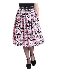 Hell Bunny Anderson 50s Fairy Woodland Pleated Skirt