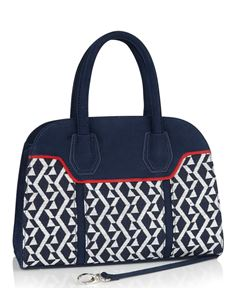 Ruby Shoo Cancun Navy Blue Carry Handbag Bag