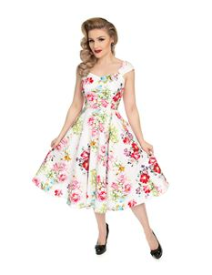 H&R London 50s Rose Paradise Floral Sweetheart Dress