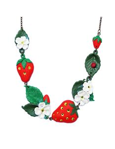 Guns N Posies Strawberry Necklace