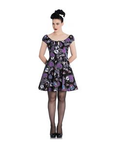 Hell Bunny Graciela Skeleton Alternative Mini Dress