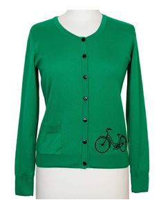 Friday On My Mind Long Sleeved Green Button Down Cyclone Cardigan