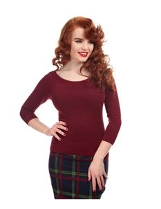 Collectif Bardot Boat Neck Cotton Jumper