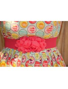 Silly Old Sea Dog Bright Pink Flower Belt