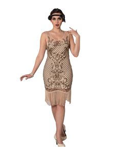 Banned The Great Gatsby Nude 1920's Style Dress