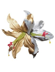 Minx's Accessories Silver And Gold Lilies Hair Clip