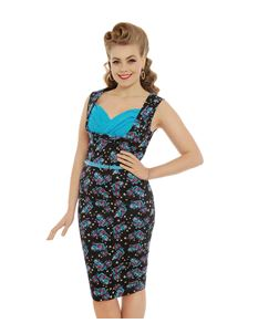 Lindy Bop Vanessa Cheshire Cat Wiggle Dress