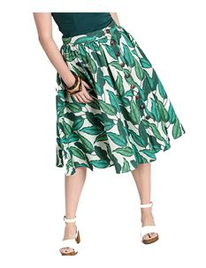Hell Bunny Rainforest Leaf Summer 50s Skirt