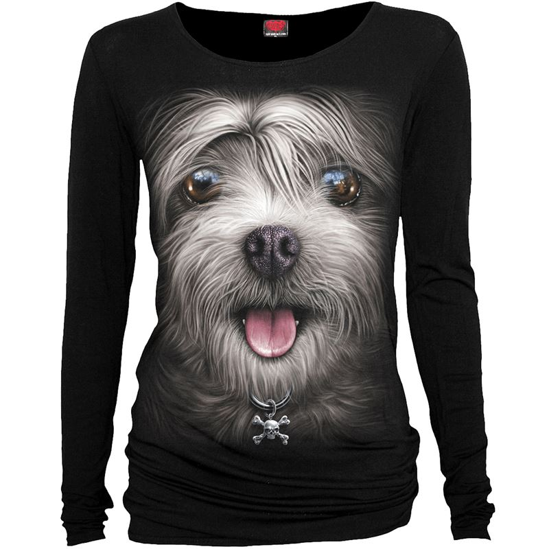 Spiral Direct Misty Eyes Dog Alternative LS Baggy Top