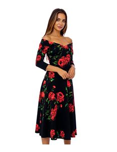 Clarence and Alabama Elizabeth Dramatic Rose Dress