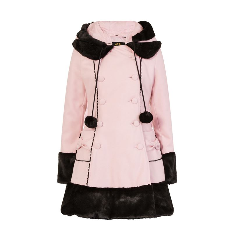 Hell Bunny Sarah Jane Winter Hooded Faux Fur Coat
