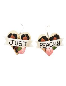 Guns N Posies Leopard Print Heart Earrings - 3 Options