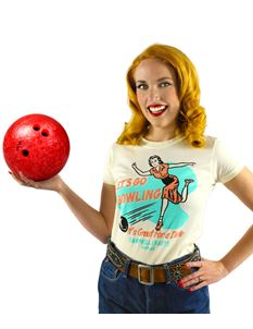 Atomic Swag X Campbell Crafts Ladies Bowling T-Shirt