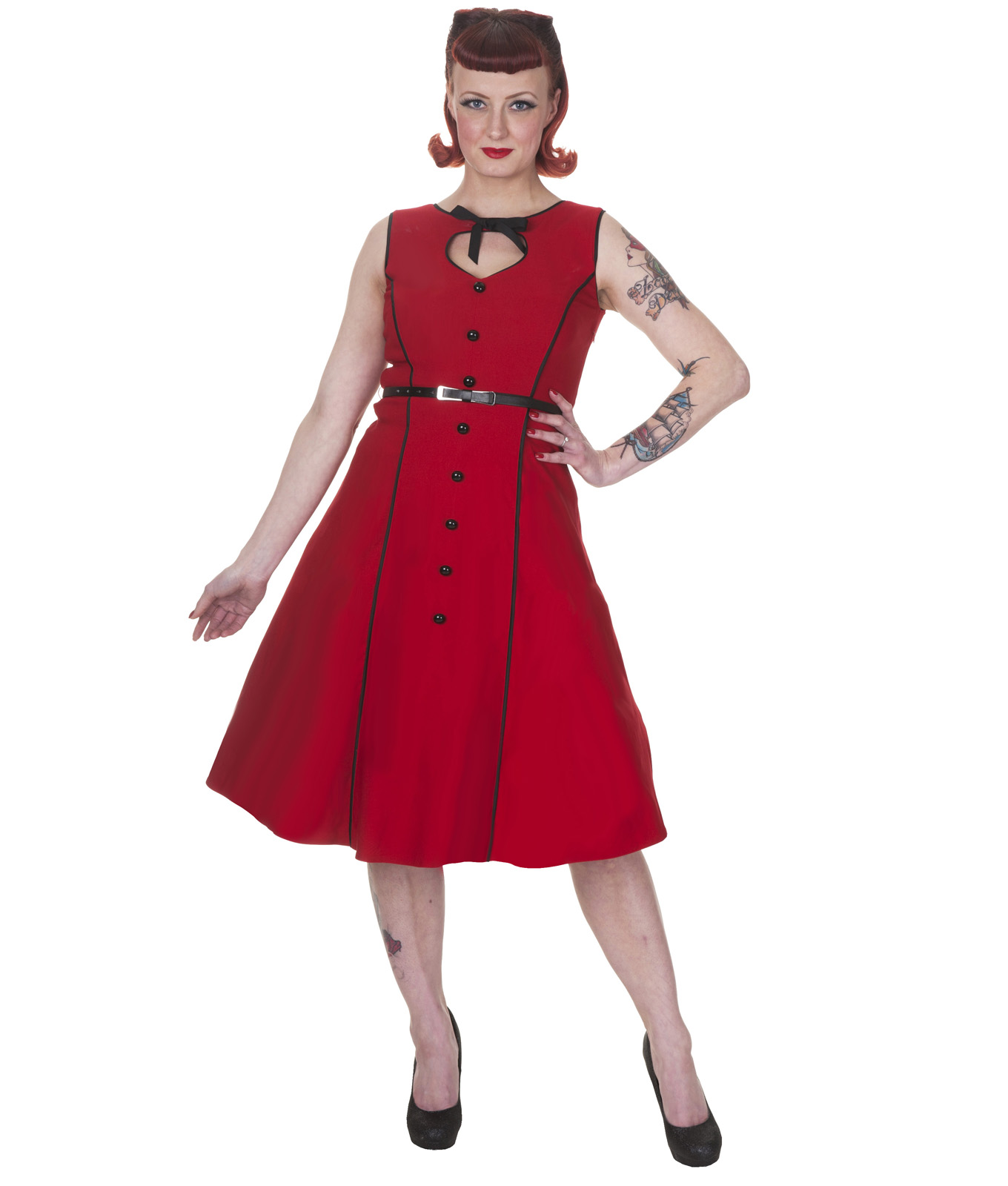Whispering Ivy 50 39 S Vintage Style Button Dress
