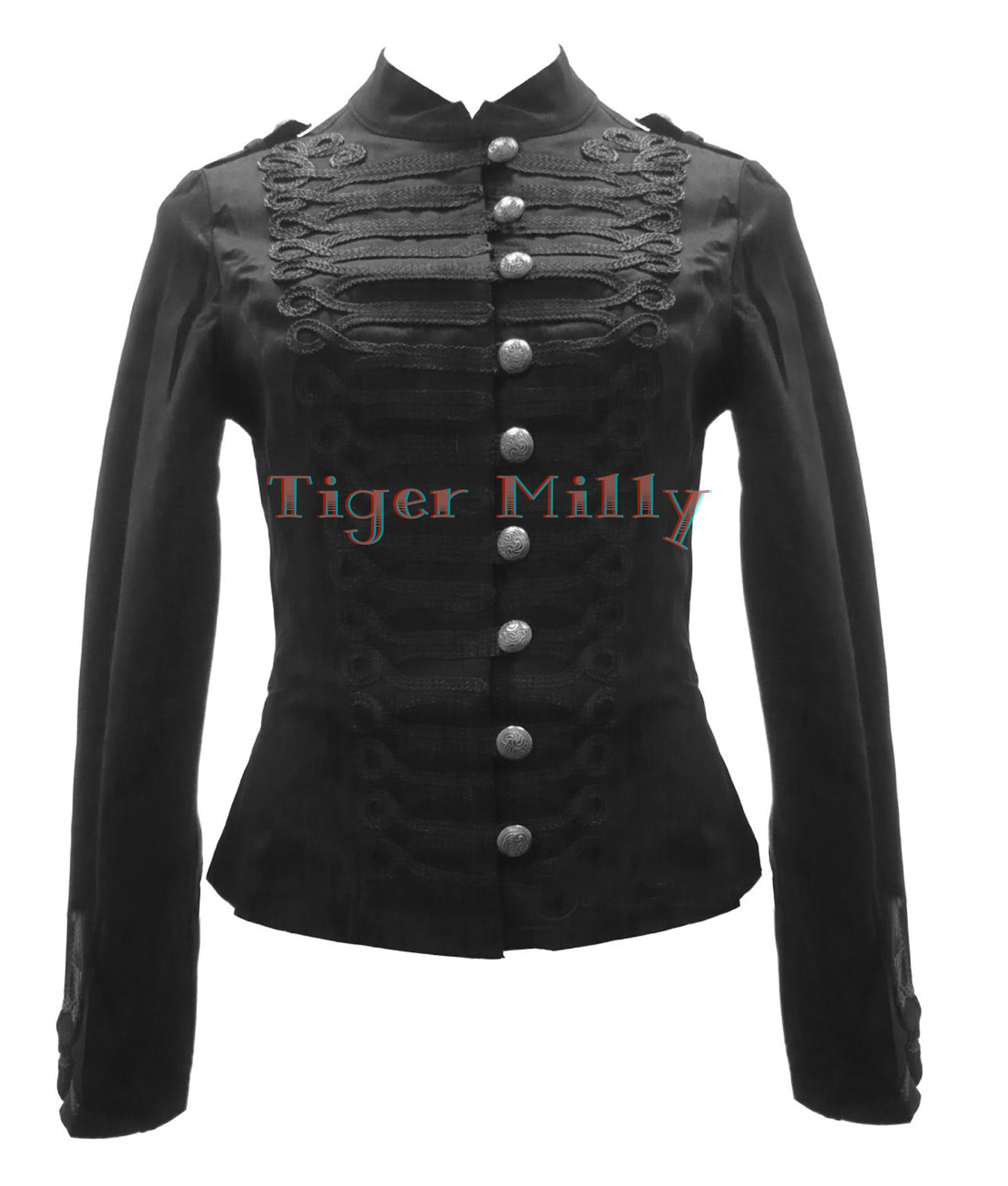 H&R London Women Short Military Jacket Coat Black Size US 6-14 ...
