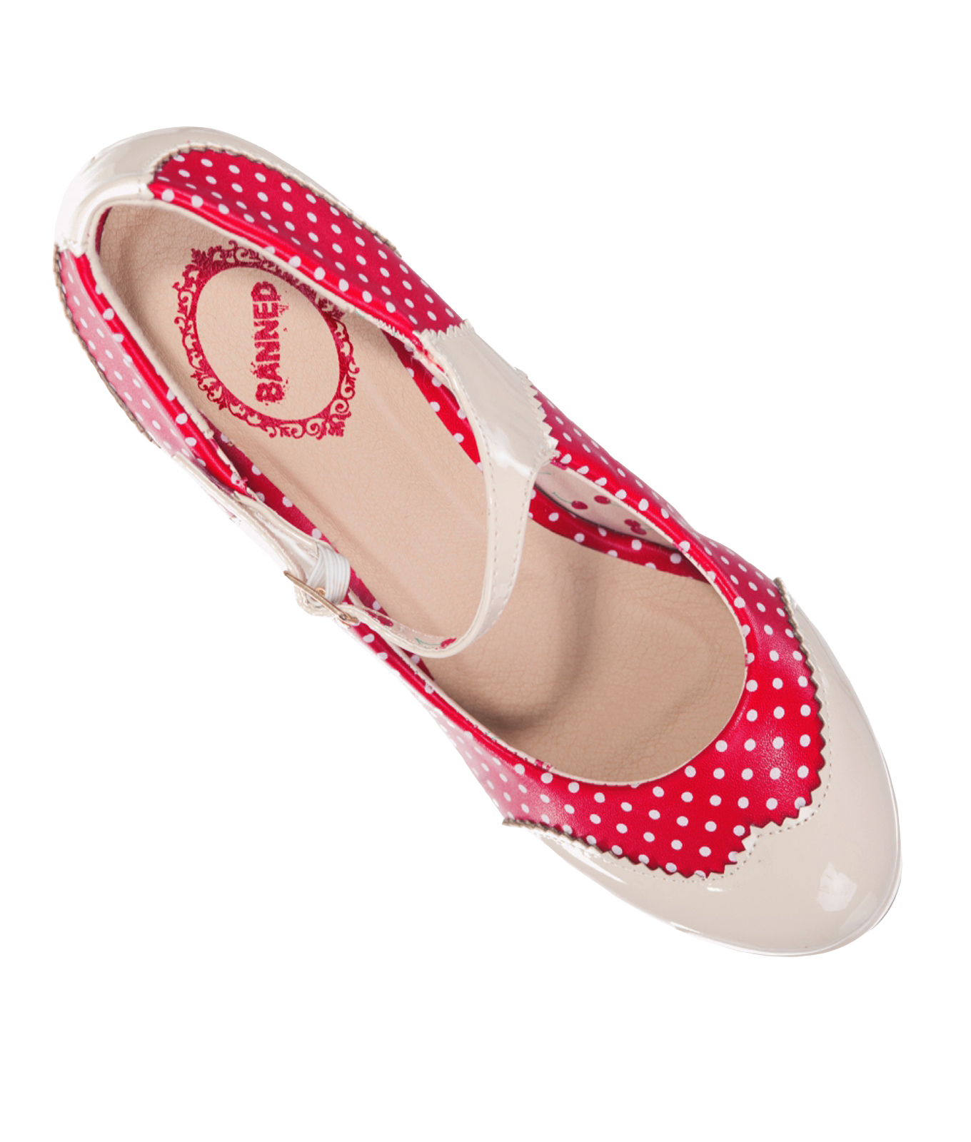 MARY JANE Shoes by Banned POLKA DOT 50s Rockabilly Heels