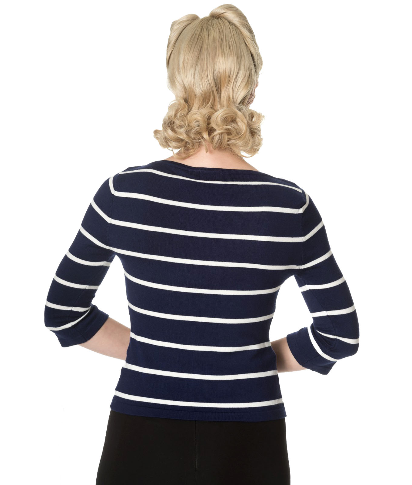 Banned Stripes Please Vintage Style Knit Jumper Striped Top