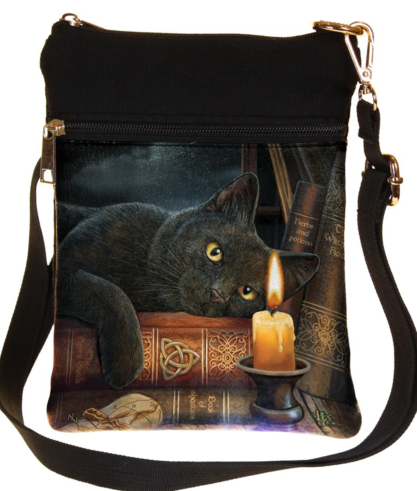 Nemesis Now The Witching Hour Cat Bag By Lisa Parker
