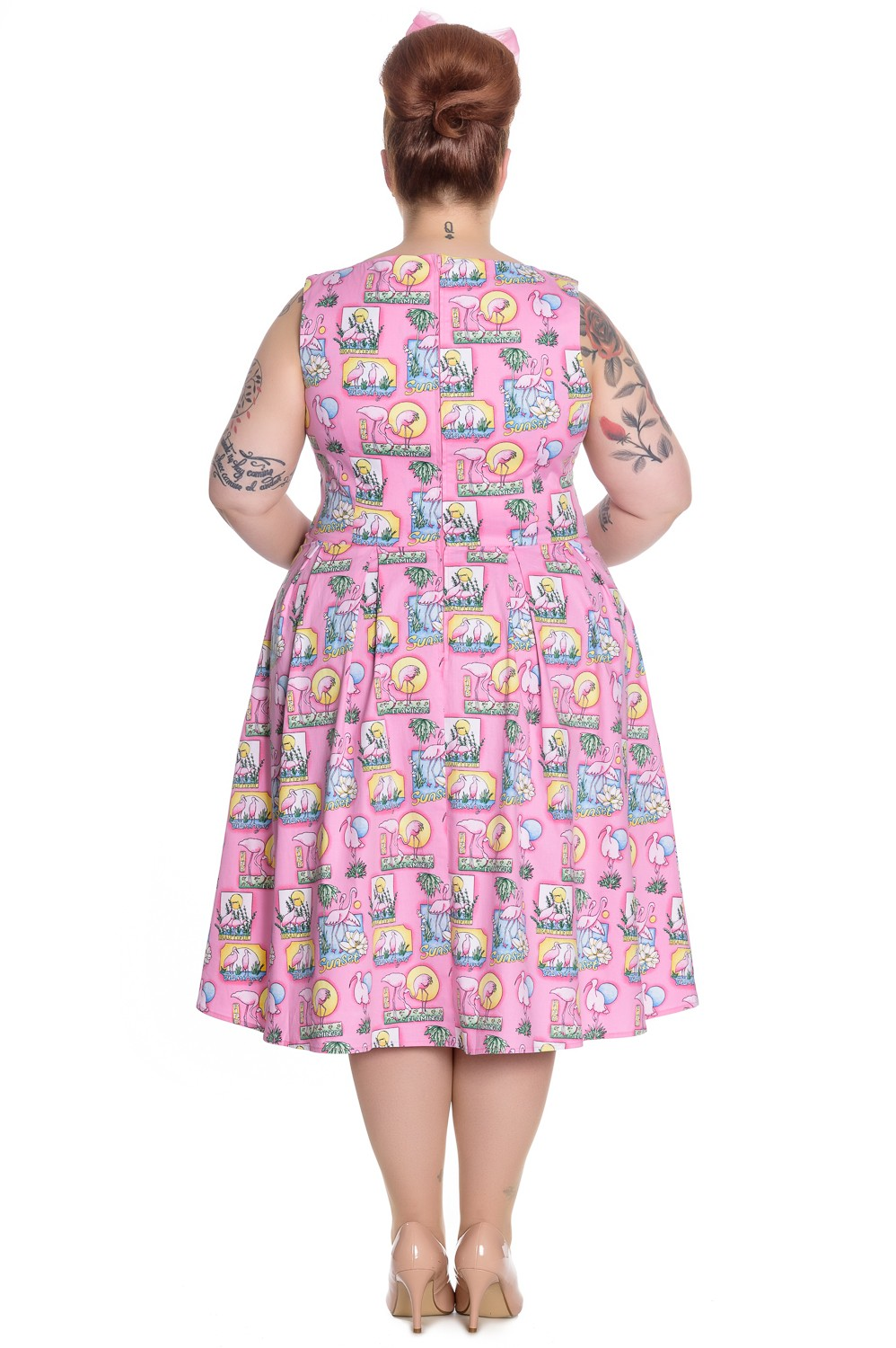 Hell Bunny Maxine Pink Flamingoes 50 39 S Style Dress